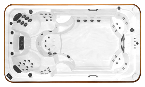 Top view of the Arctic Spas All Weather Pool Ocean SDS