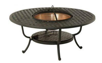 New Port Beach Alum Woven Fire Table