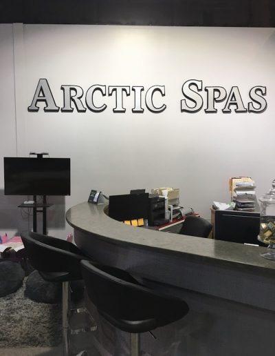 The cash desk at arctic spas in Kamloops